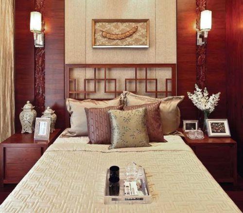 中式古典四居室卧室装修图片欣赏