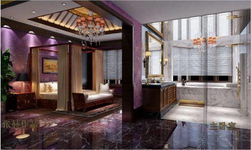 中式古典别墅卧室装修效果图大全