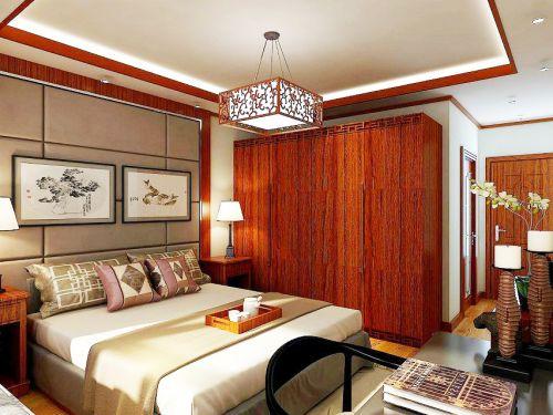 中式风格四居室卧室装修图片欣赏