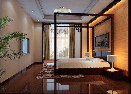 中式古典三居室卧室装修图片欣赏