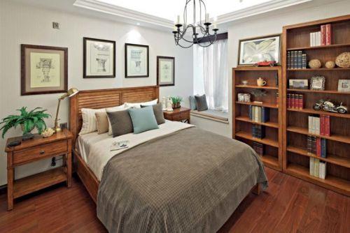 中式古典三居室卧室装修图片