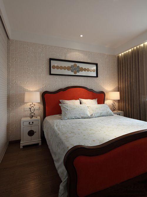 新中式三居室卧室装修图片
