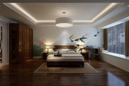 中式古典三居室卧室衣柜装修效果图欣赏