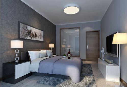 中式风格四居室卧室床装修图片