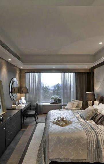 中式风格三居室卧室照片墙装修效果图大全