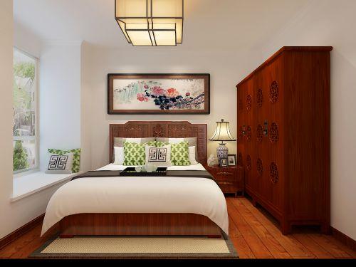 中式古典二居室卧室组合柜装修效果图