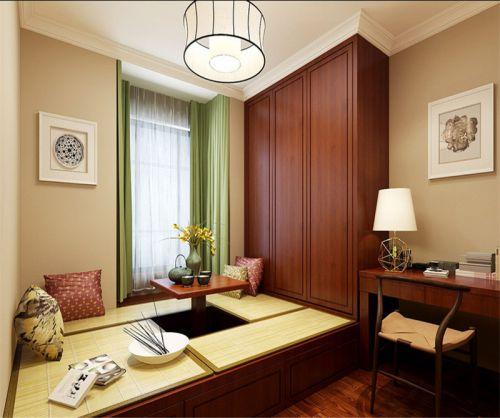 中式风格二居室卧室吊顶装修效果图欣赏