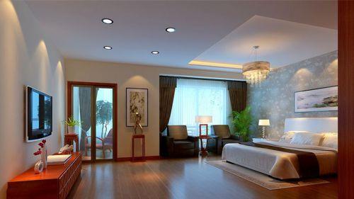 中式古典五居室卧室飘窗装修效果图大全