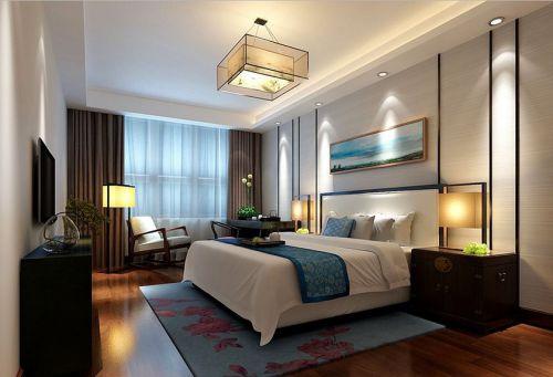中式风格别墅卧室背景墙装修效果图大全
