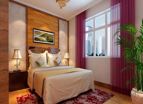 中式古典三居室卧室床头柜装修效果图大全