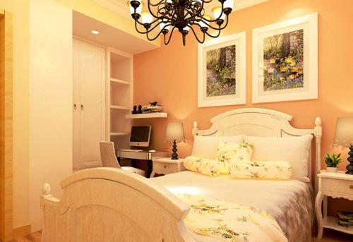 中式风格二居室卧室床头柜装修图片