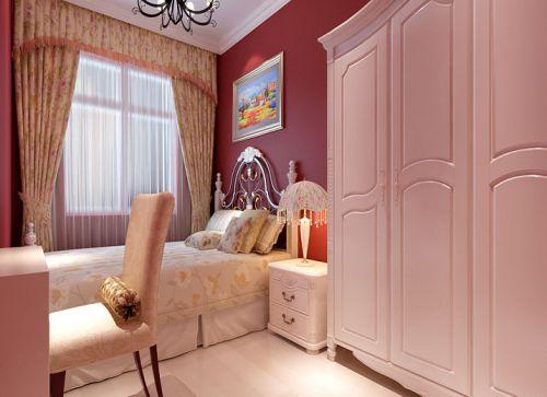 中式风格三居室卧室榻榻米装修效果图欣赏