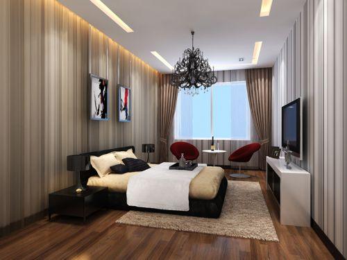 中式风格四居室卧室婴儿床装修效果图大全