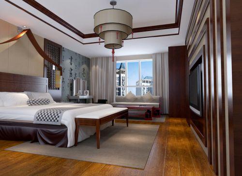 中式风格四居室卧室衣柜装修效果图大全