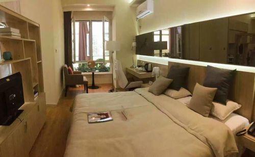 中式风格二居室卧室吊顶装修效果图