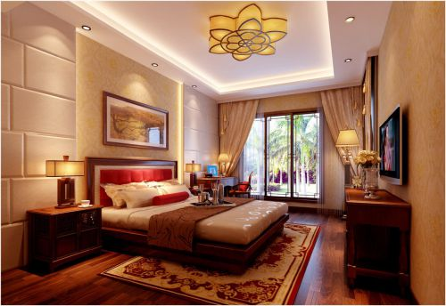 中式风格五居室卧室照片墙装修效果图欣赏
