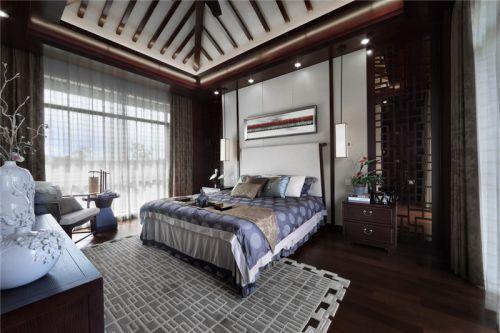 中式风格四居室卧室电视柜装修效果图欣赏