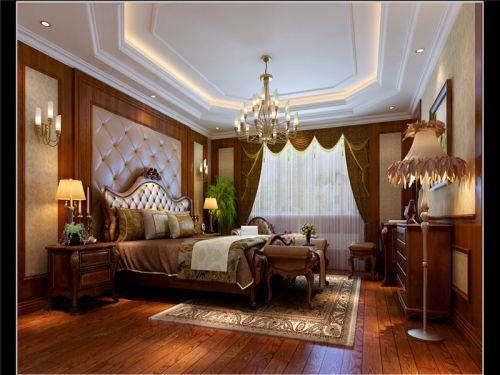 中式古典四居室卧室吊顶装修效果图