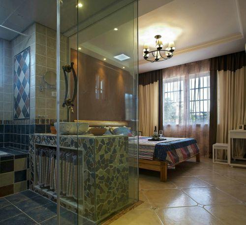 中式古典三居室卧室床头柜装修效果图欣赏