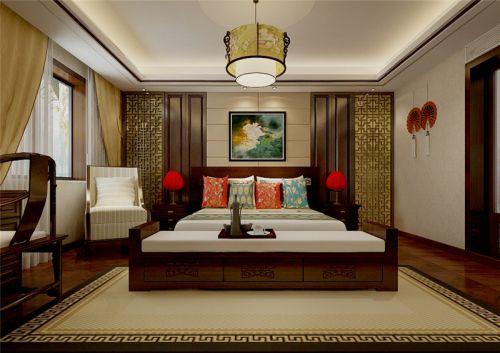 中式风格五居室卧室榻榻米装修效果图大全