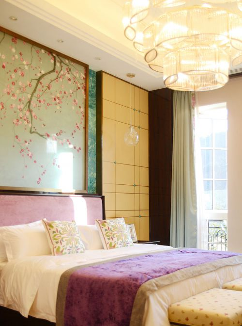 中式风格六居室卧室吧台装修效果图欣赏