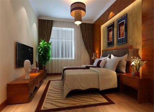 中式古典三居室卧室榻榻米装修效果图大全