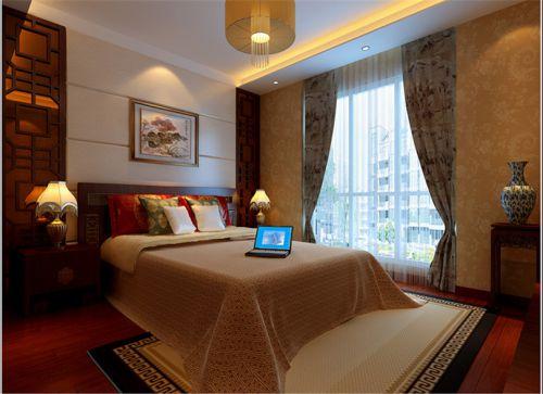 中式古典六居室卧室照片墙装修图片