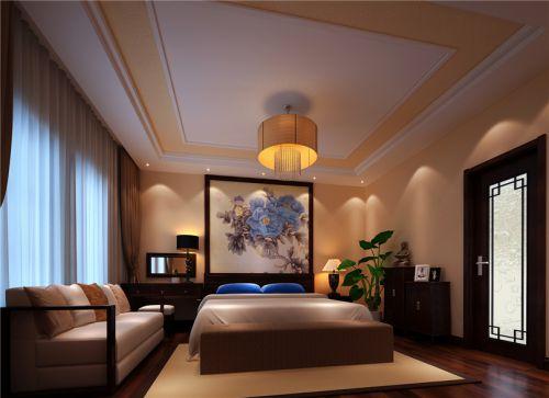 中式古典五居室卧室窗帘装修效果图大全