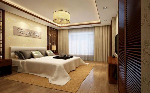 中式风格三居室卧室床头柜装修效果图大全