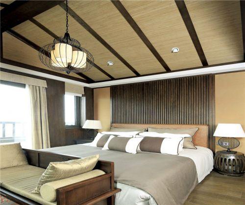 中式古典四居室卧室壁纸装修效果图欣赏