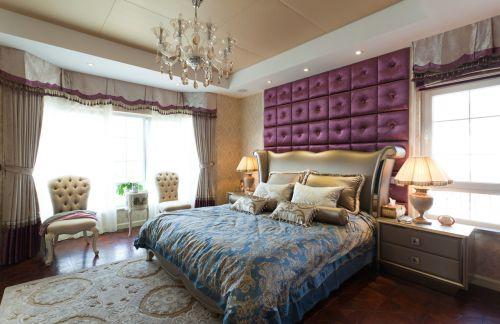 中式风格二居室卧室电视柜装修效果图大全