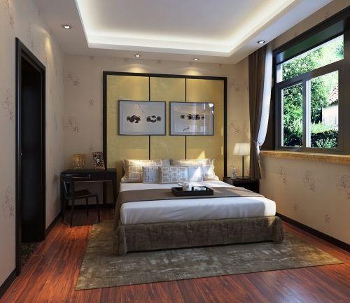 中式风格五居室卧室灯具装修图片