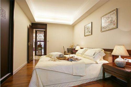 中式风格五居室卧室吊顶装修效果图