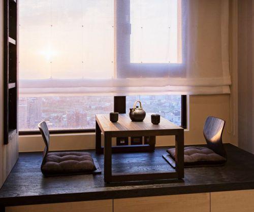新中式风格简约装修卧室飘窗装修效果图