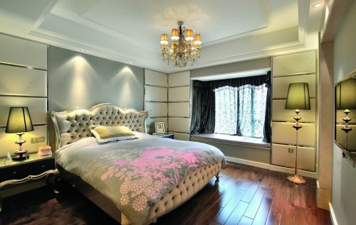 华丽欧式风格三居室卧室飘窗效果图