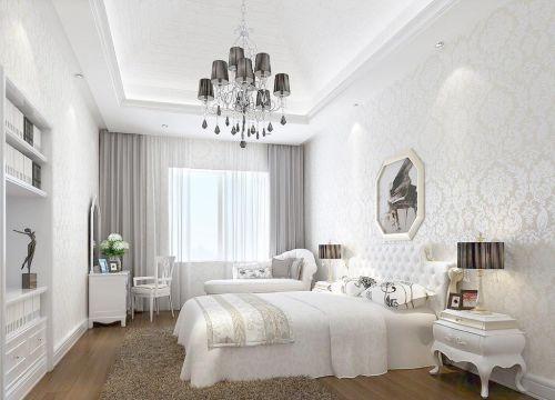 小户型现代欧式卧室床头柜效果图