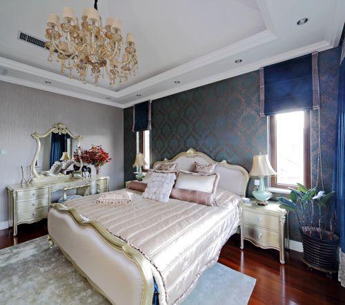 简约欧式别墅卧室装修效果图