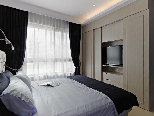 时尚欧式风格卧室隐形电视柜装修案例
