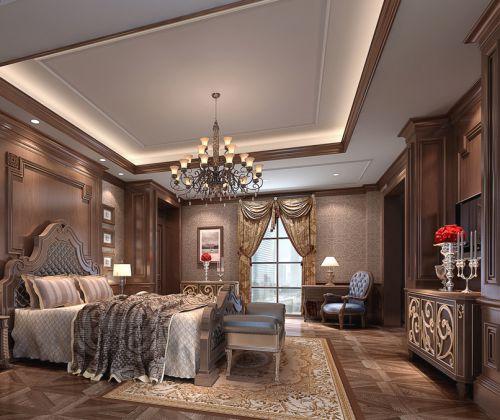 咖啡色别墅卧室装修效果图欣赏