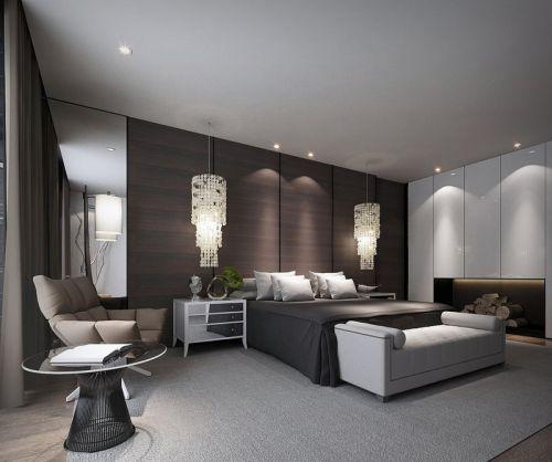 欧式风格简约硬朗卧室装修效果图欣赏