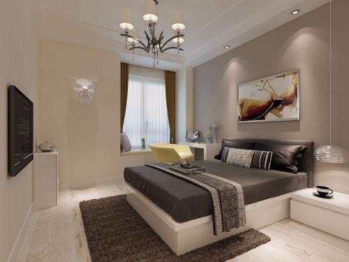 欧式风格小户型两居室简约卧室床装修效果图淡雅清新