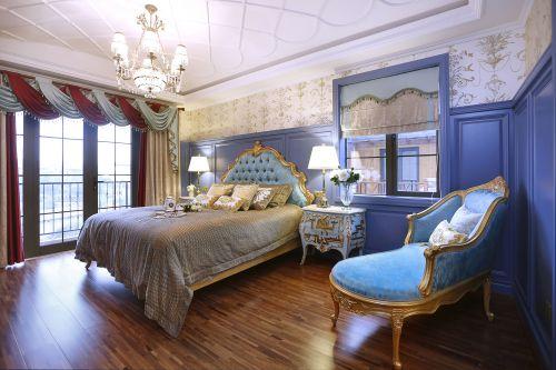 华贵精致欧式风格卧室床铺装修设计