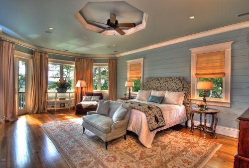 原木色欧式风格奢华卧室空间装修设计