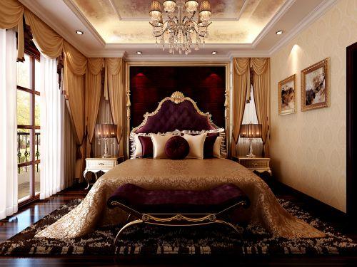 欧式新古典风格别墅卧室装修效果图欣赏