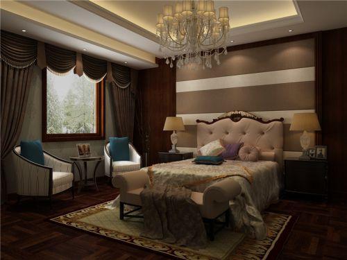 欧式新古典和中式风格混塔别墅卧室装修图片欣赏