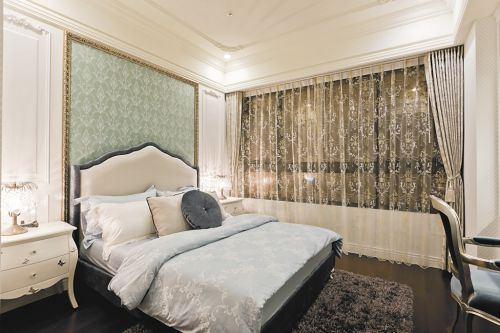典雅欧式风格卧室背景墙装修设计图