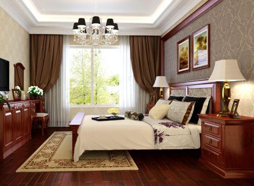 欧式古典三居室卧室装修效果图大全