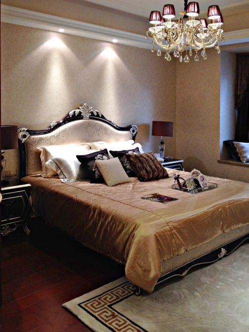 华丽欧式风格三居室卧室装修案例