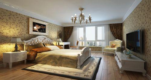 欧式新古典三居室卧室装修效果图
