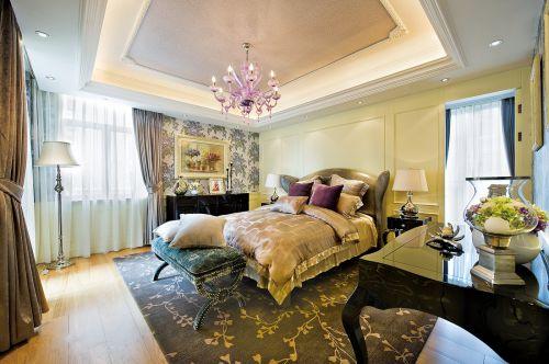 奢华欧式风格别墅卧室吊顶装修效果图